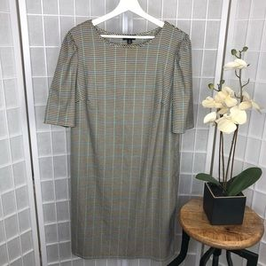 Tacera Women's Plaid Short Sleeve Dress Size 1X